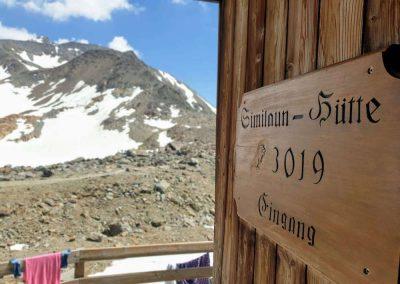 Similaun Hütte op 3019 meter hoogte