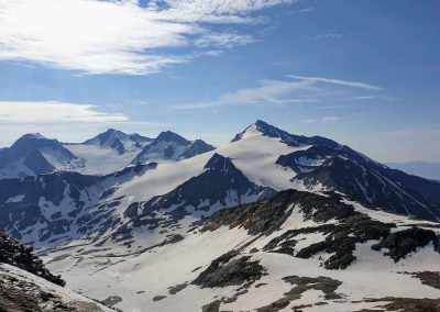 Uitzicht op de top van de Similaun met de Niederjochferner gletsjer
